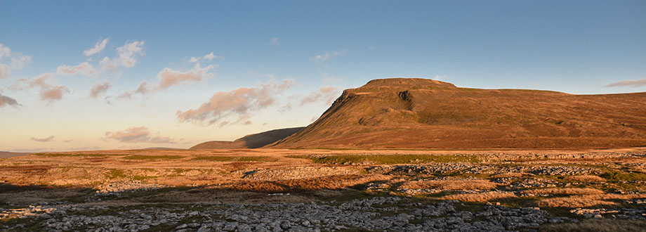 Ingleborough just 5 miles from Wennington and aprt of the 3 peaks
